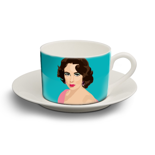 Elizabeth Taylor - personalised cup and saucer by SABI KOZ