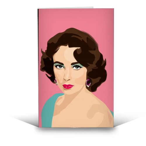 Elizabeth Taylor - funny greeting card by SABI KOZ