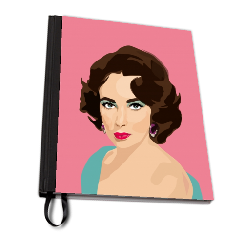 Elizabeth Taylor - designed notebook by SABI KOZ