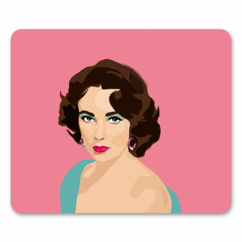 Elizabeth Taylor - personalised mouse mat by SABI KOZ