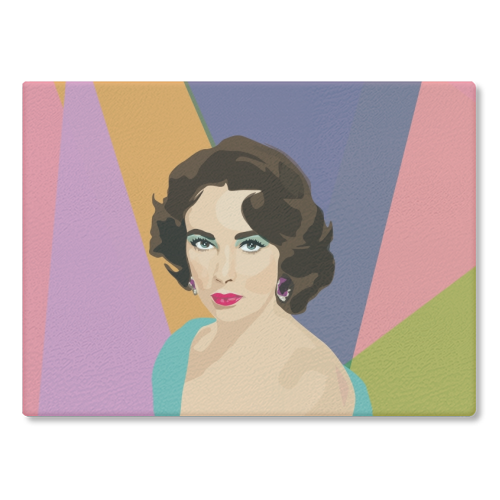 Elizabeth Taylor - glass chopping board by SABI KOZ