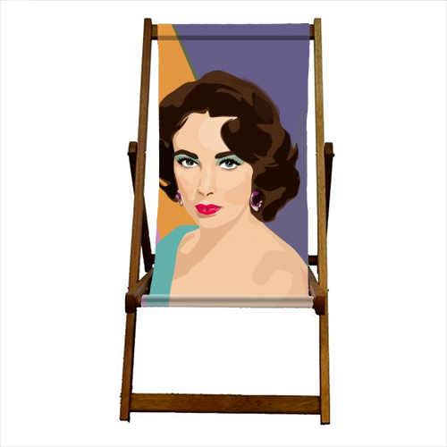 Elizabeth Taylor - canvas deck chair by SABI KOZ