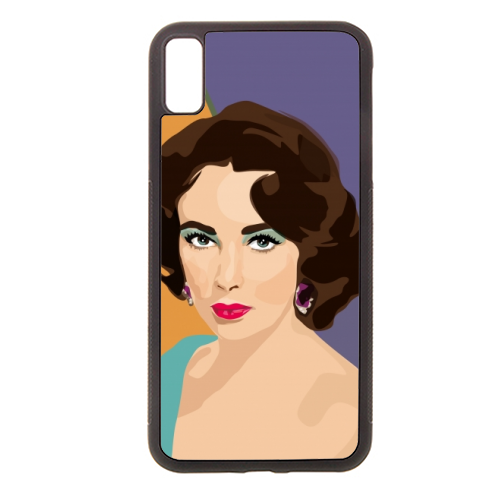 Elizabeth Taylor - Rubber phone case by SABI KOZ