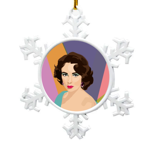 Elizabeth Taylor - snowflake decoration by SABI KOZ