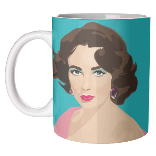 Elizabeth Taylor - unique mug by SABI KOZ