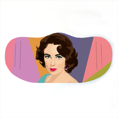 Elizabeth Taylor - washable face mask by SABI KOZ