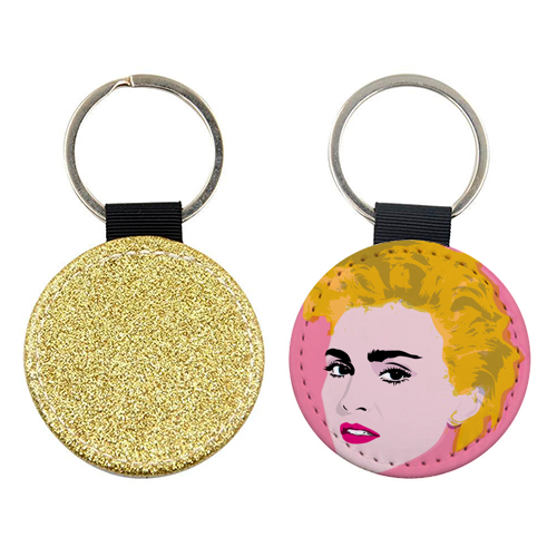 Madonna - personalised leather keyring by SABI KOZ