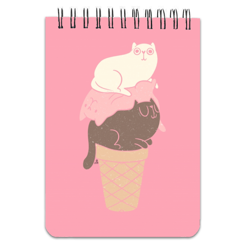 Cat Ice Cream - designed notebook by Tess Shearer