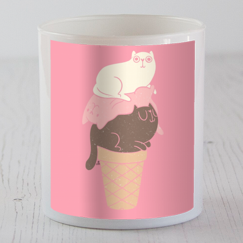 Cat Ice Cream - Candle by Tess Shearer