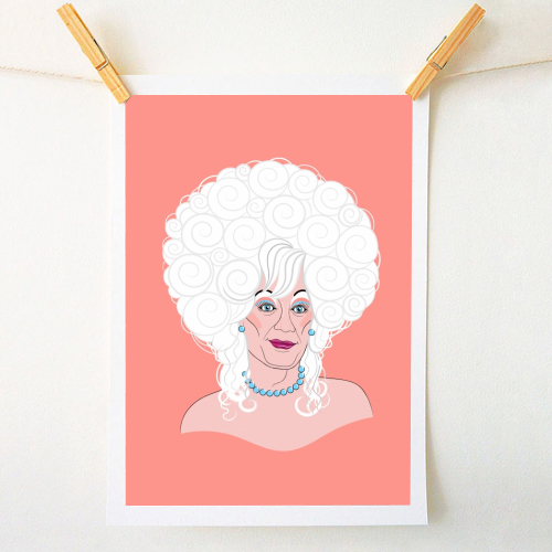 Drag Queen Lily Savage - original print by Adam Regester