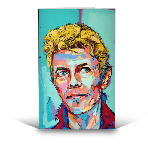 Hopeful Bowie - funny greeting card by Laura Selevos