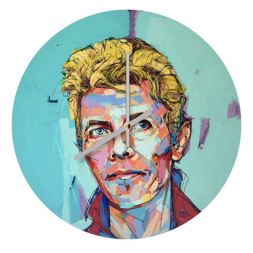 Hopeful Bowie - creative clock by Laura Selevos