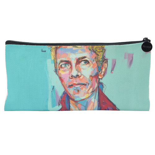Hopeful Bowie - unique pencil case by Laura Selevos