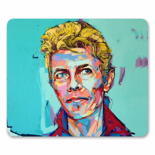 Hopeful Bowie - personalised mouse mat by Laura Selevos
