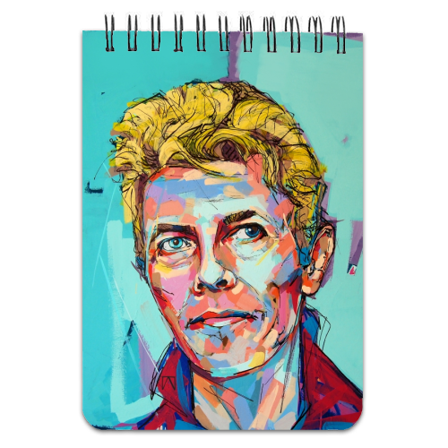 Hopeful Bowie - designed notebook by Laura Selevos