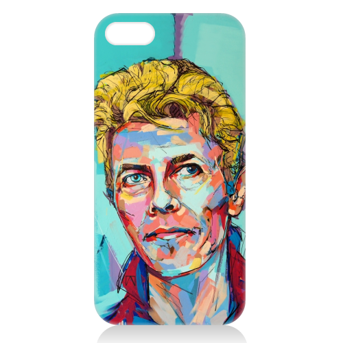 Hopeful Bowie - unique phone case by Laura Selevos