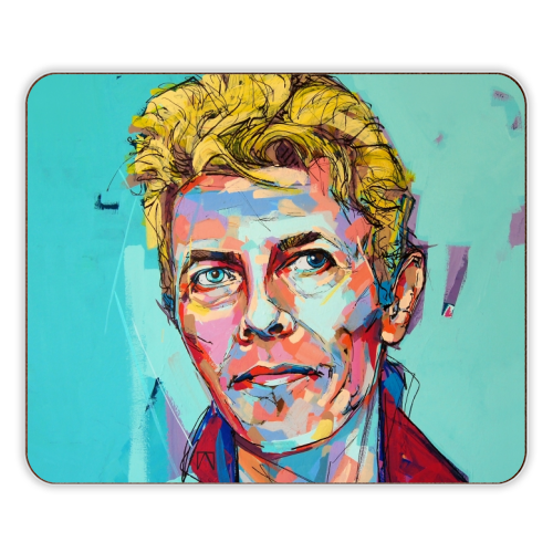 Hopeful Bowie - photo placemat by Laura Selevos