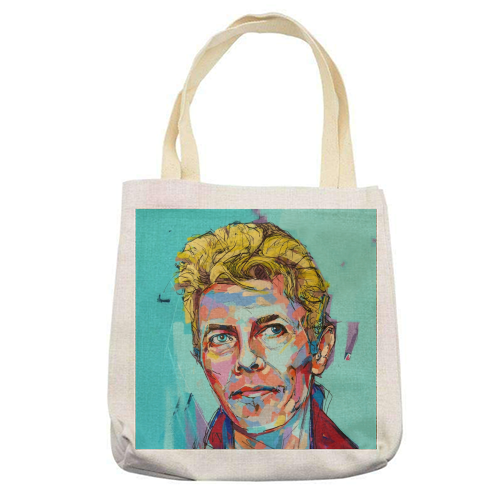 Hopeful Bowie - printed tote bag by Laura Selevos
