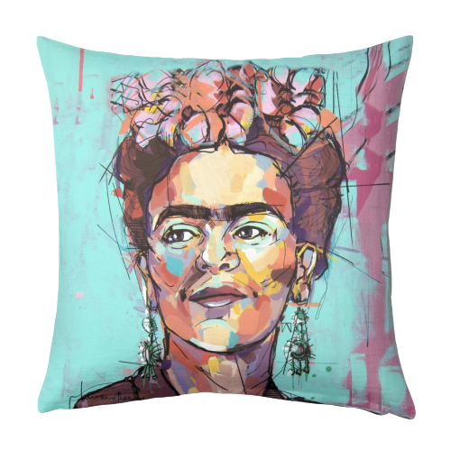 Sassy Frida - designed cushion by Laura Selevos