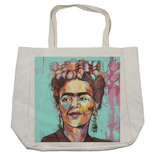 Sassy Frida - cool beach bag by Laura Selevos