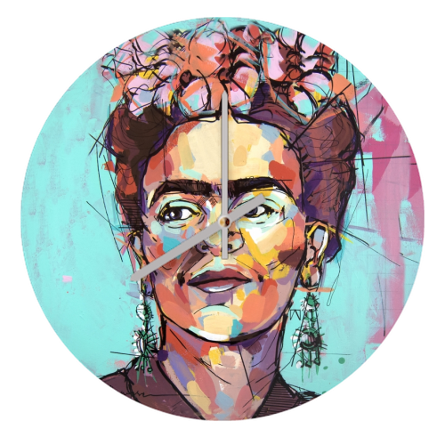 Sassy Frida - creative clock by Laura Selevos
