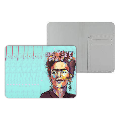 Sassy Frida - designer passport cover by Laura Selevos