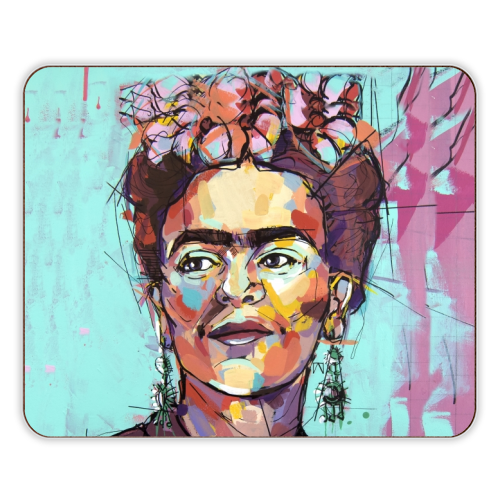 Sassy Frida - photo placemat by Laura Selevos