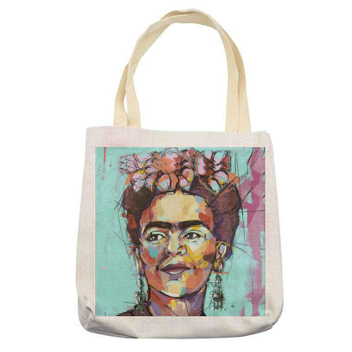 Sassy Frida - printed tote bag by Laura Selevos