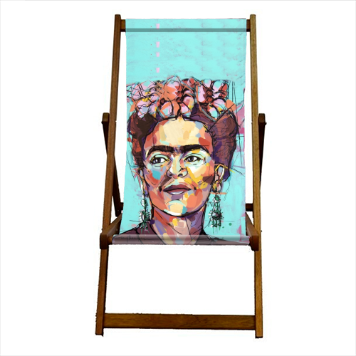 Sassy Frida - canvas deck chair by Laura Selevos