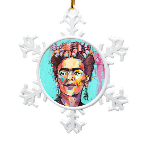 Sassy Frida - snowflake decoration by Laura Selevos