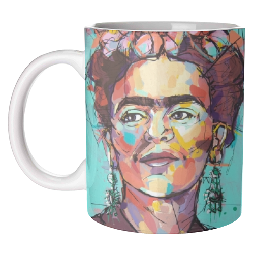 Sassy Frida - unique mug by Laura Selevos