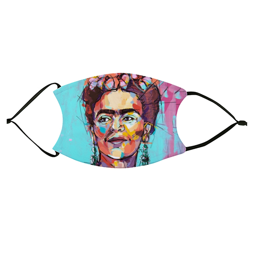 Sassy Frida - washable face mask by Laura Selevos