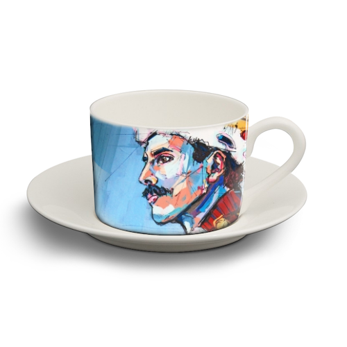Royal Freddie - personalised cup and saucer by Laura Selevos