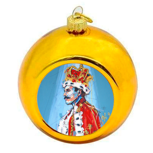 Royal Freddie - colourful christmas bauble by Laura Selevos