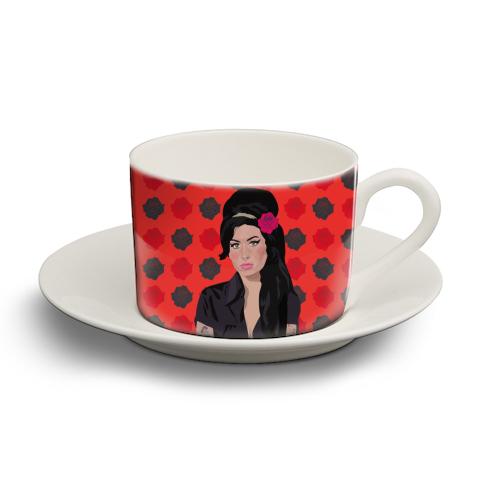 Amy Winehouse - personalised cup and saucer by SABI KOZ