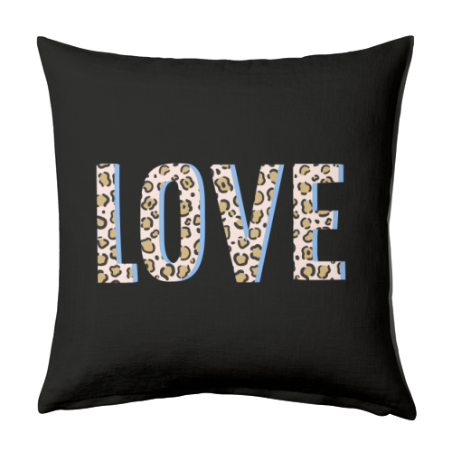 Love Leopard - designed cushion by The 13 Prints