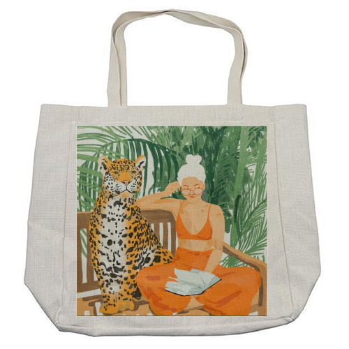 Jungle Vacay II - cool beach bag by Uma Prabhakar Gokhale