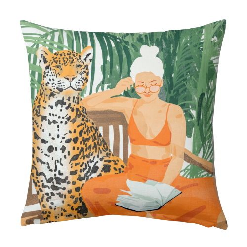 Jungle Vacay II - designed cushion by Uma Prabhakar Gokhale