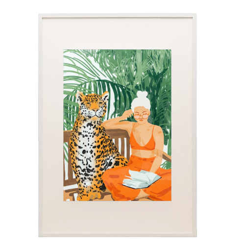 Jungle Vacay II - printed framed picture by Uma Prabhakar Gokhale