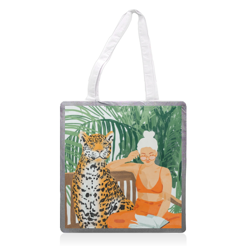 Jungle Vacay II - printed tote bag by Uma Prabhakar Gokhale