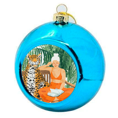 Jungle Vacay II - colourful christmas bauble by Uma Prabhakar Gokhale