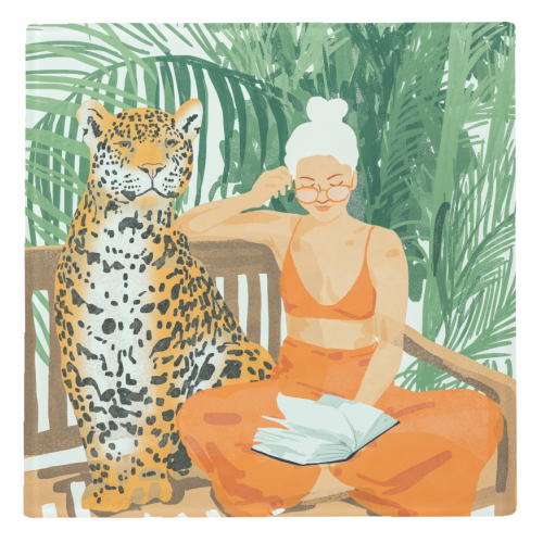 Jungle Vacay II - personalised drink coaster by Uma Prabhakar Gokhale