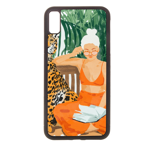 Jungle Vacay II - Rubber phone case by Uma Prabhakar Gokhale