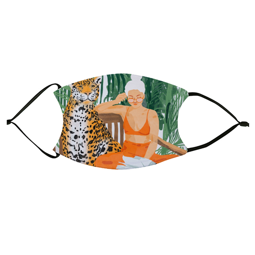 Jungle Vacay II - washable face mask by Uma Prabhakar Gokhale