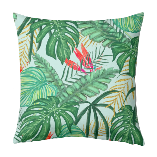 The Tropics III - designed cushion by Uma Prabhakar Gokhale