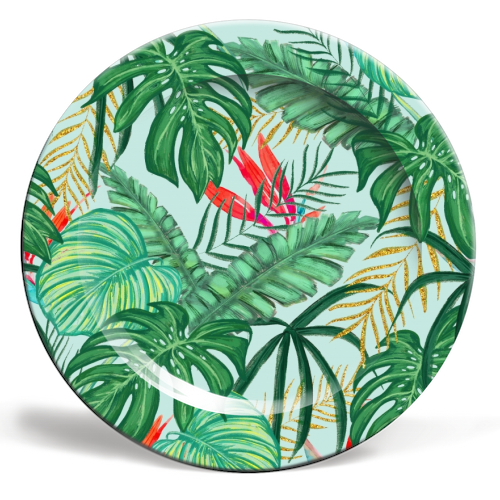 The Tropics III - ceramic dinner plate by Uma Prabhakar Gokhale