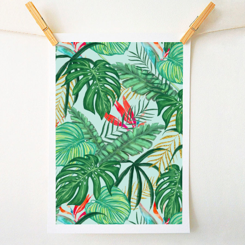 The Tropics III - original print by Uma Prabhakar Gokhale