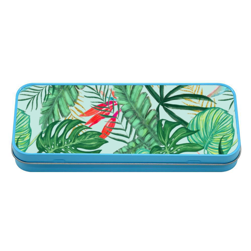 The Tropics III - tin pencil case by Uma Prabhakar Gokhale