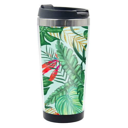 The Tropics III - travel water bottle by Uma Prabhakar Gokhale