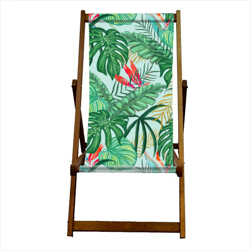 The Tropics III - canvas deck chair by Uma Prabhakar Gokhale